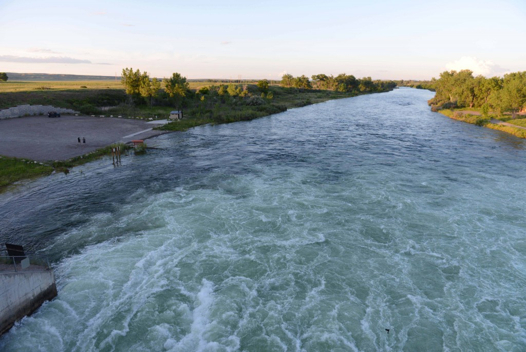Bighorn River at Afterbay Dam. June 2015. 12,000 cfs.