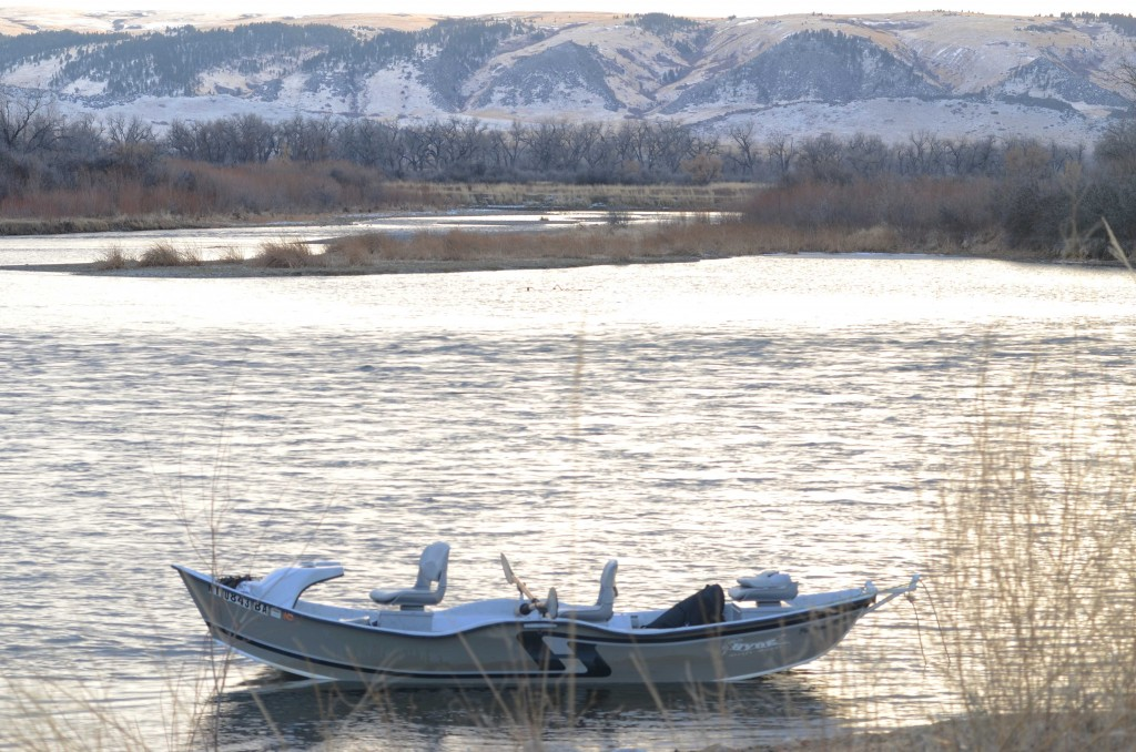 A peaceful winter day on the Bighorn River